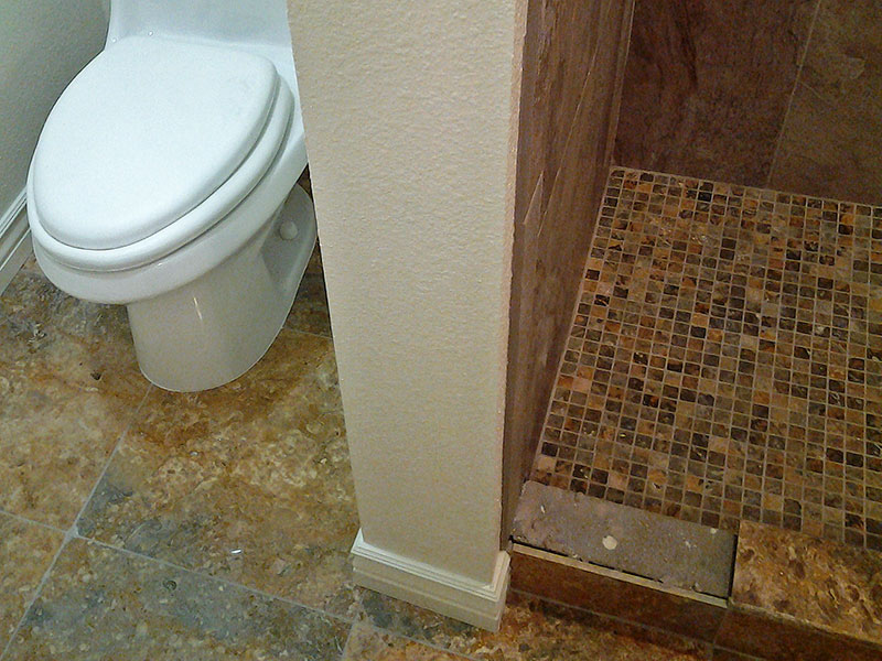 Bathroom Custom Tile Shower Remodel Tile Flooring Toilet Install