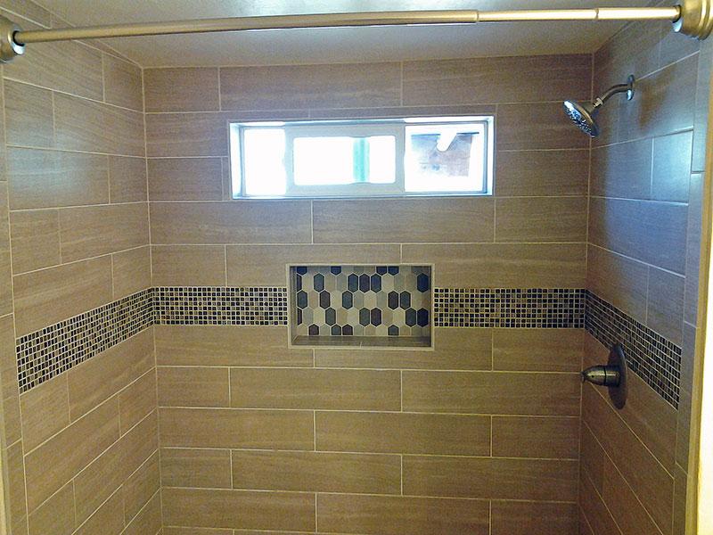 Bathroom Remodeling Custom Tile Shower21 Wall Niche Window