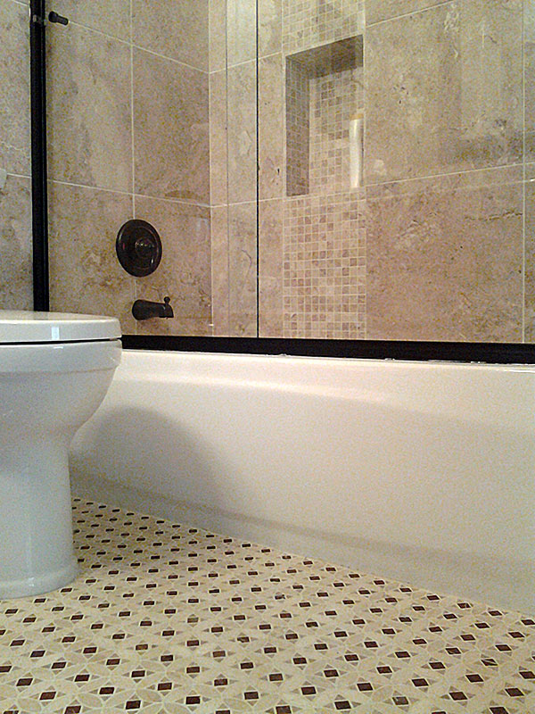 Bathroom Shower Remodel In Las Sendas Mesa Az