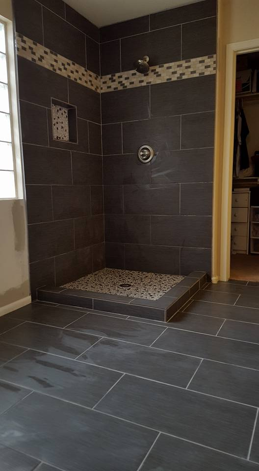 Ultra Modern Tile Bathroom Remodel | San Tan Remodeling