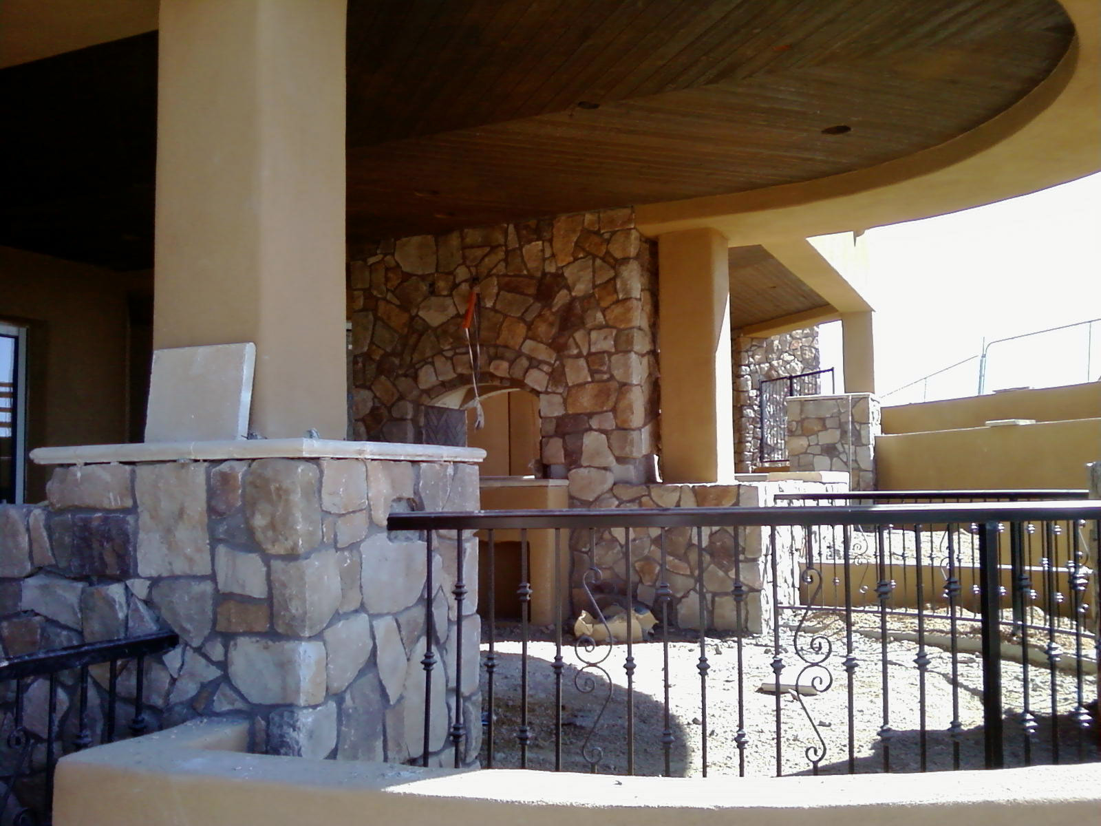 SanTan Handyman Finishes Stone Veneer in Scottsdale