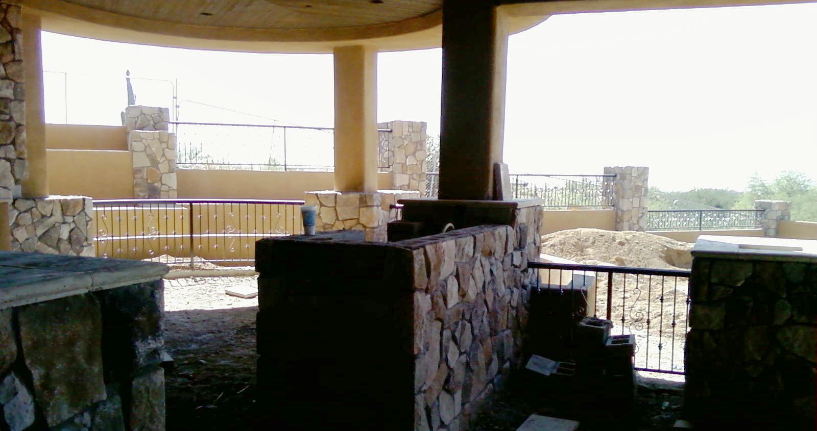 SanTan Handyman Finishes Stone Veneer in Scottsdale