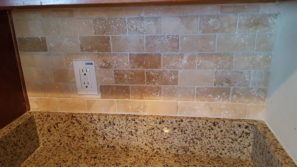 Travertine Subway Tile Backsplash Florence Az San Tan Remodeling