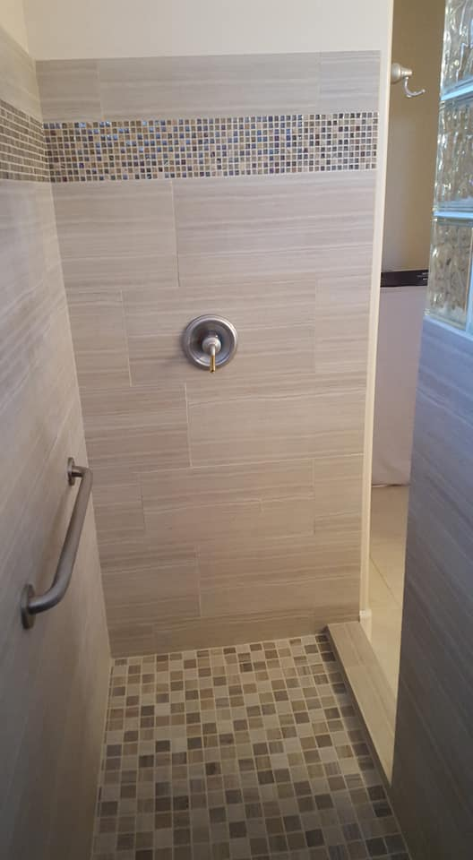 Walk In Shower Remodel With Tile Amp Glass San Tan Remodeling